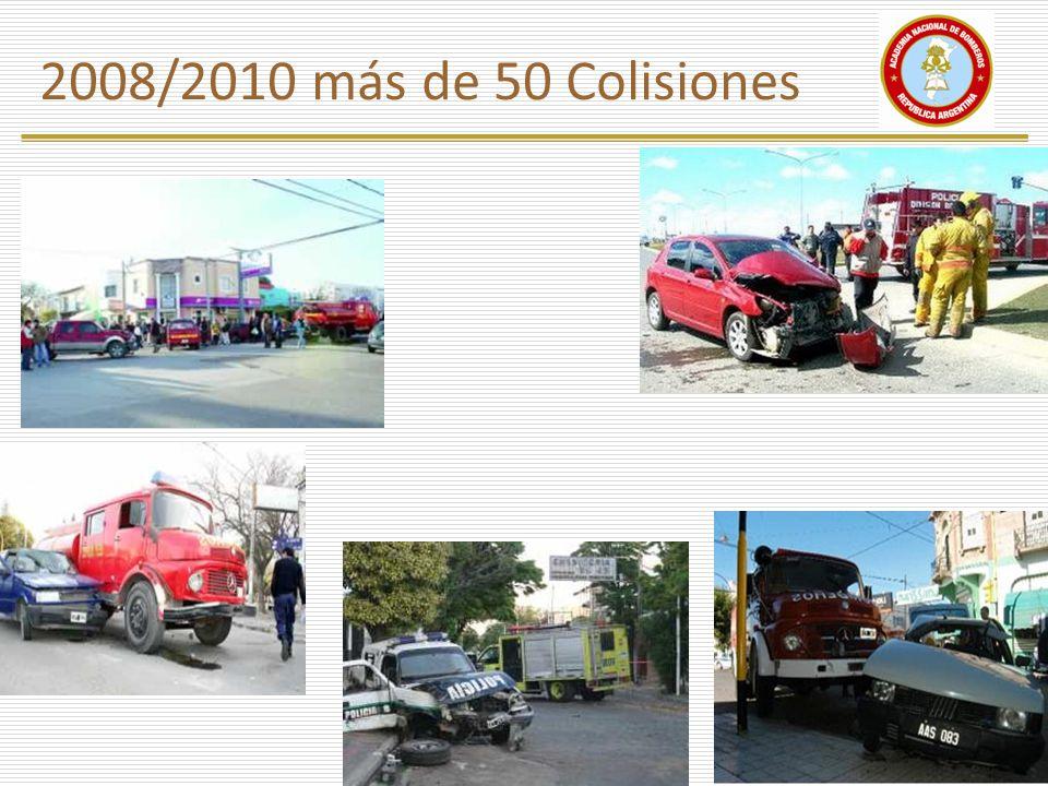 2008/2010 más de 50 Colisiones