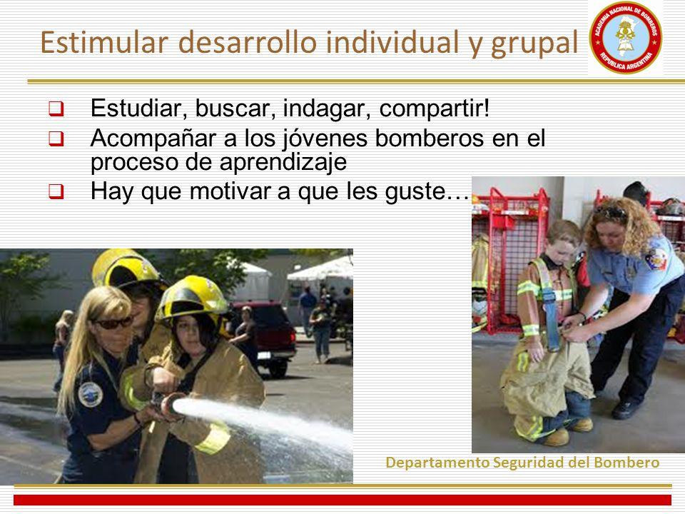Estimular desarrollo individual y grupal