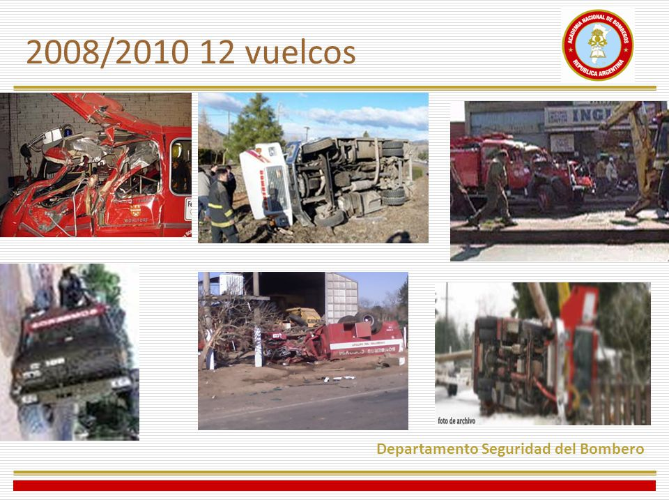 2008/2010 12 vuelcos Departamento Seguridad del Bombero