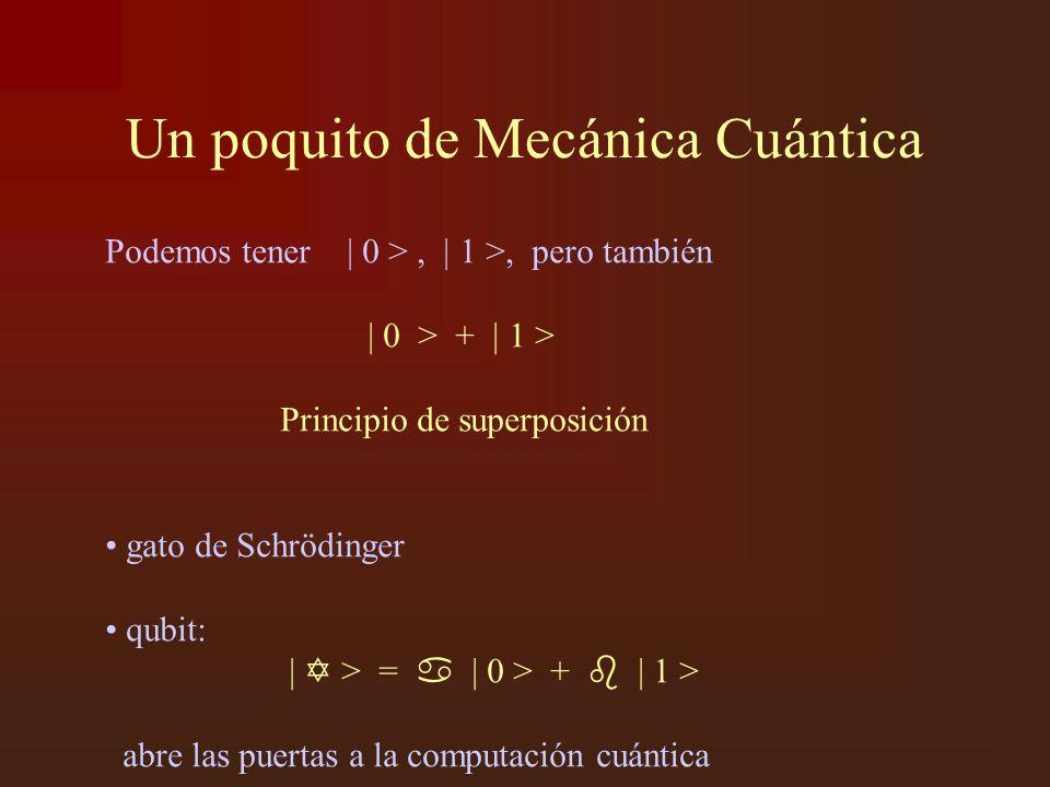 Un poquito de Mecánica Cuántica