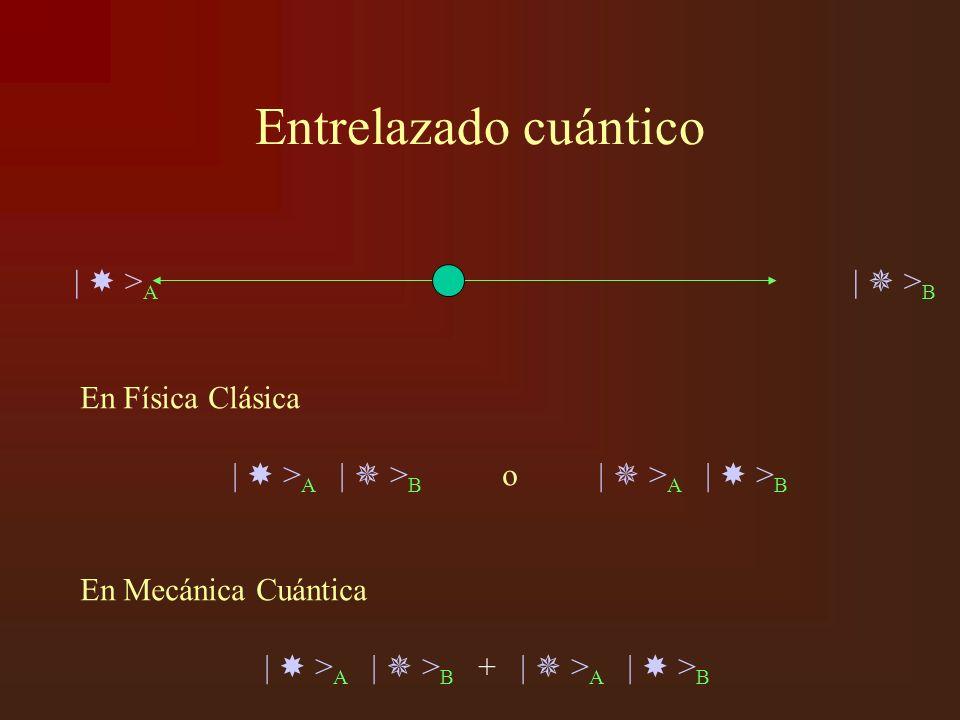 Entrelazado cuántico |  >A |  >B En Física Clásica