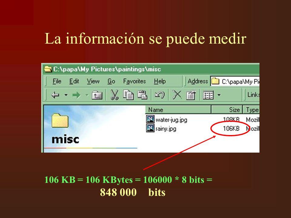 La información se puede medir