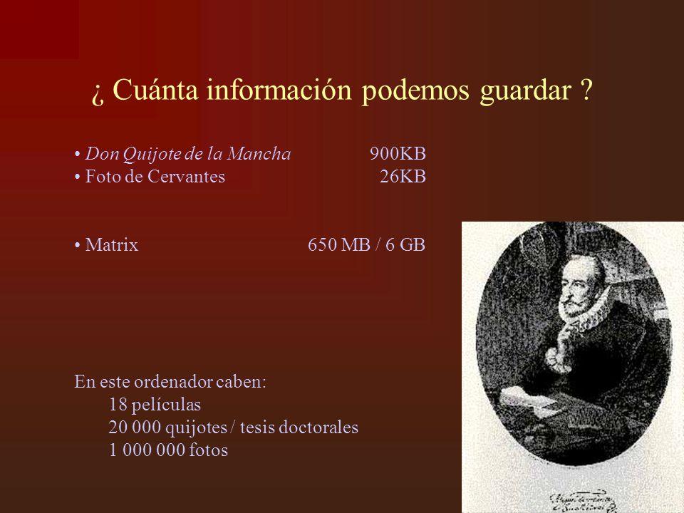 ¿ Cuánta información podemos guardar