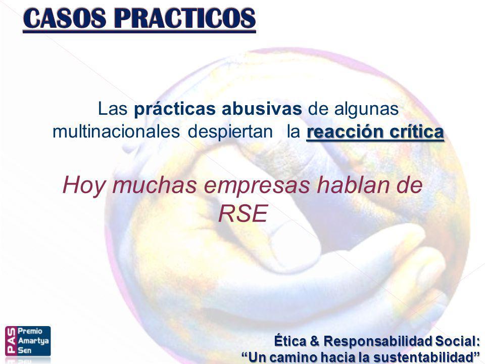 Hoy muchas empresas hablan de RSE