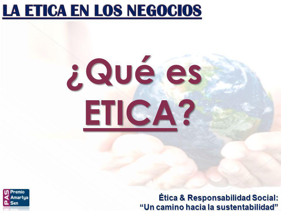 ¿Qué es ETICA LA ETICA EN LOS NEGOCIOS