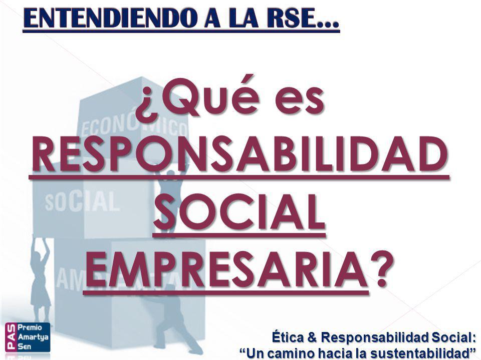 ¿Qué es RESPONSABILIDAD SOCIAL EMPRESARIA