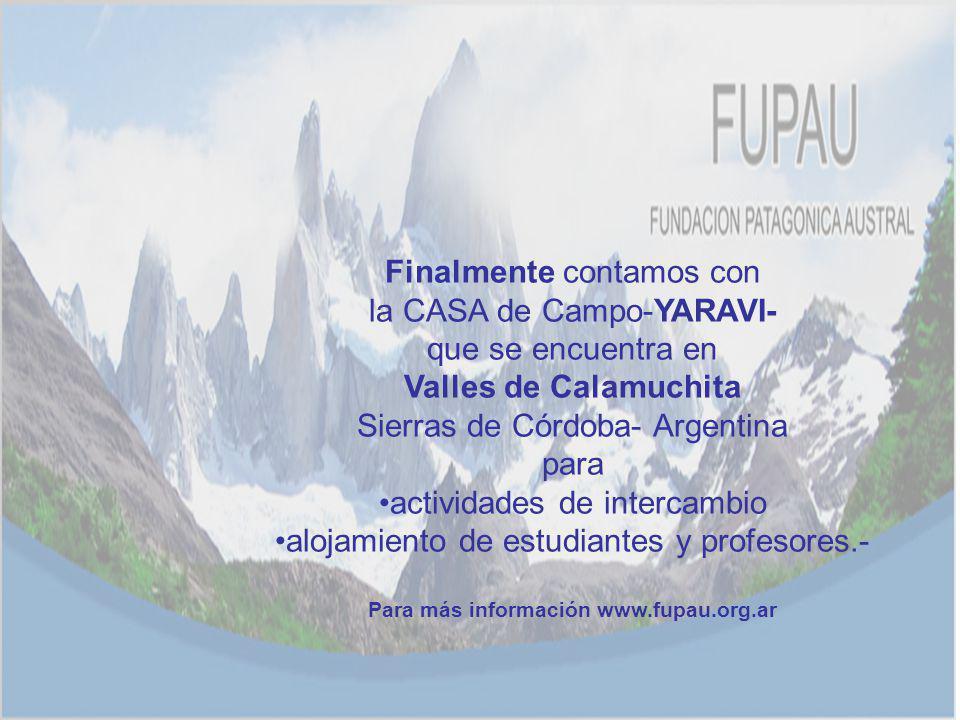 Para más información www.fupau.org.ar