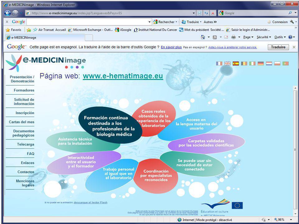Página web: www.e-hematimage.eu