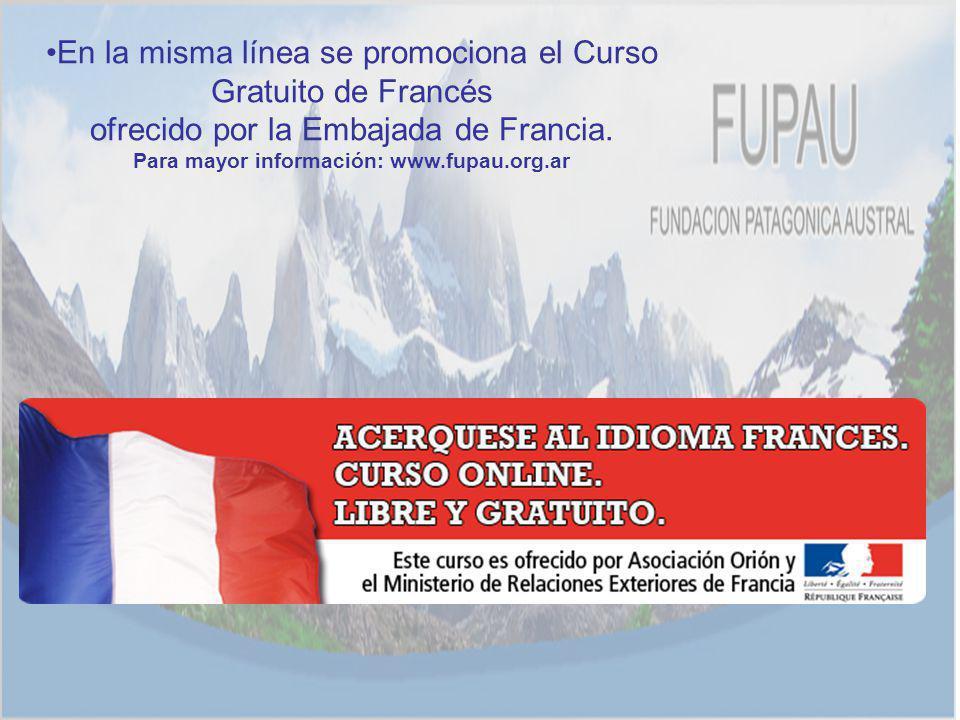 Para mayor información: www.fupau.org.ar