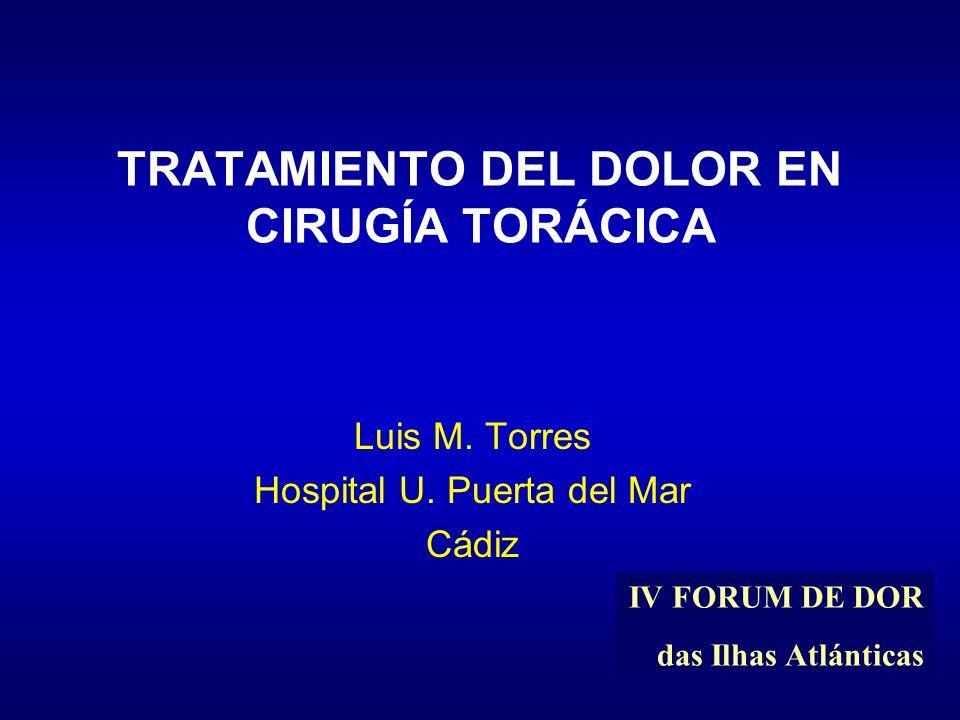 TRATAMIENTO DEL DOLOR EN CIRUGÍA TORÁCICA