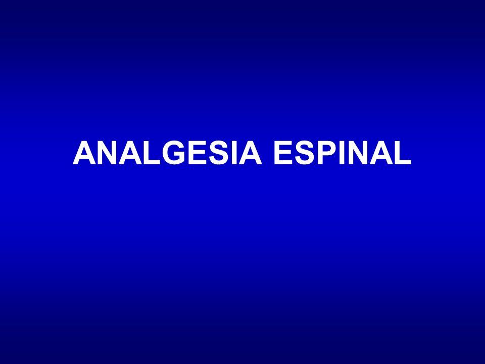 ANALGESIA ESPINAL