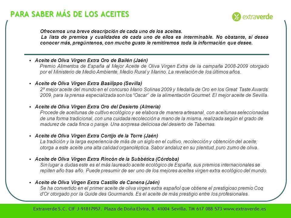 PARA SABER MÁS DE LOS ACEITES