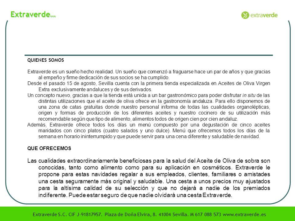 Extraverde… QUIENES SOMOS.