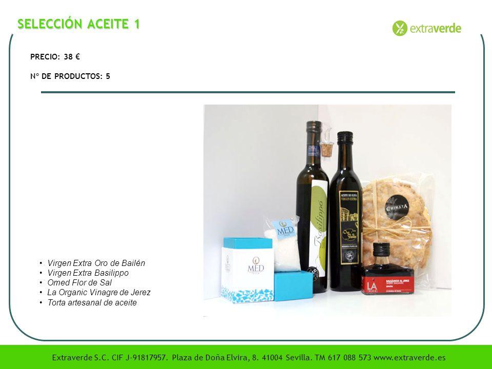 SELECCIÓN ACEITE 1 PRECIO: 38 € Nº DE PRODUCTOS: 5