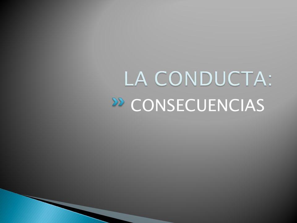 LA CONDUCTA: CONSECUENCIAS