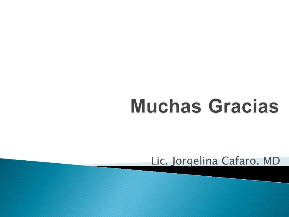 Lic. Jorgelina Cafaro. MD