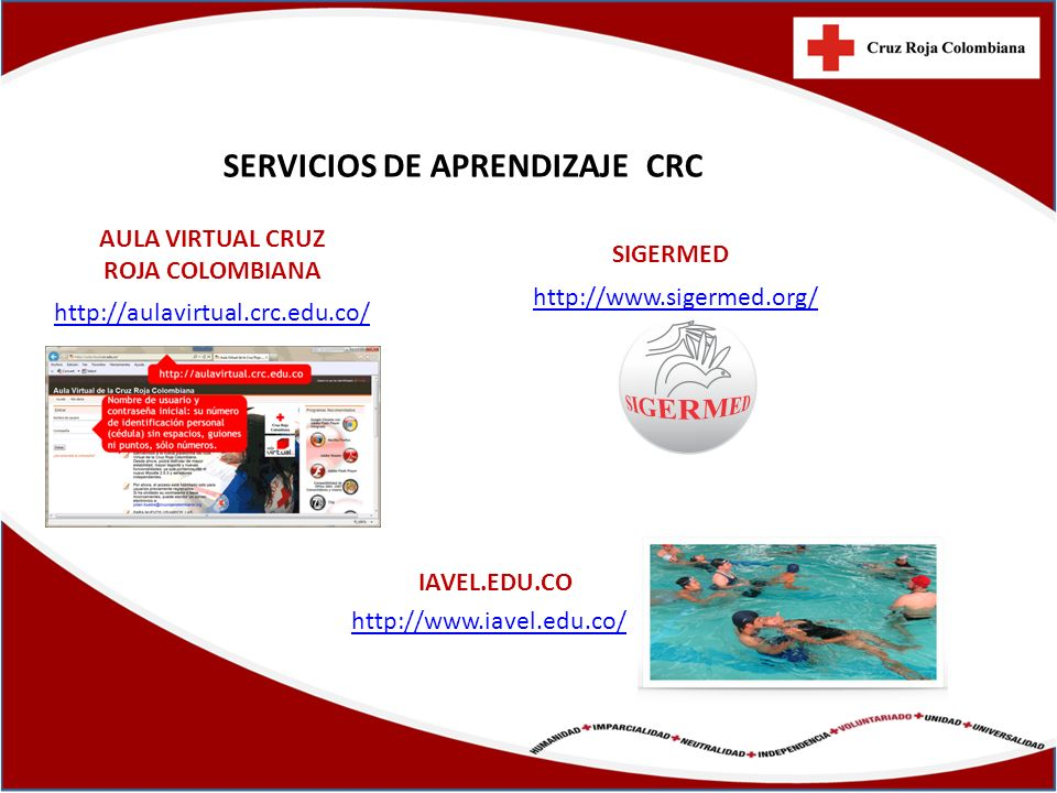AULA VIRTUAL CRUZ ROJA COLOMBIANA