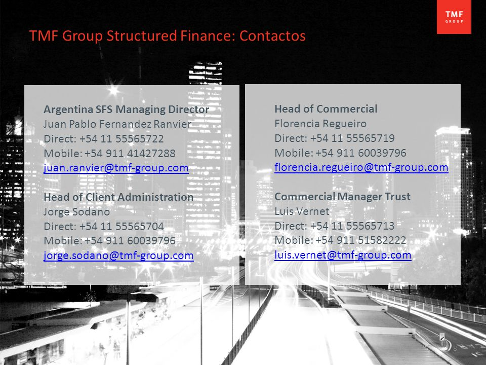 TMF Group Structured Finance: Contactos