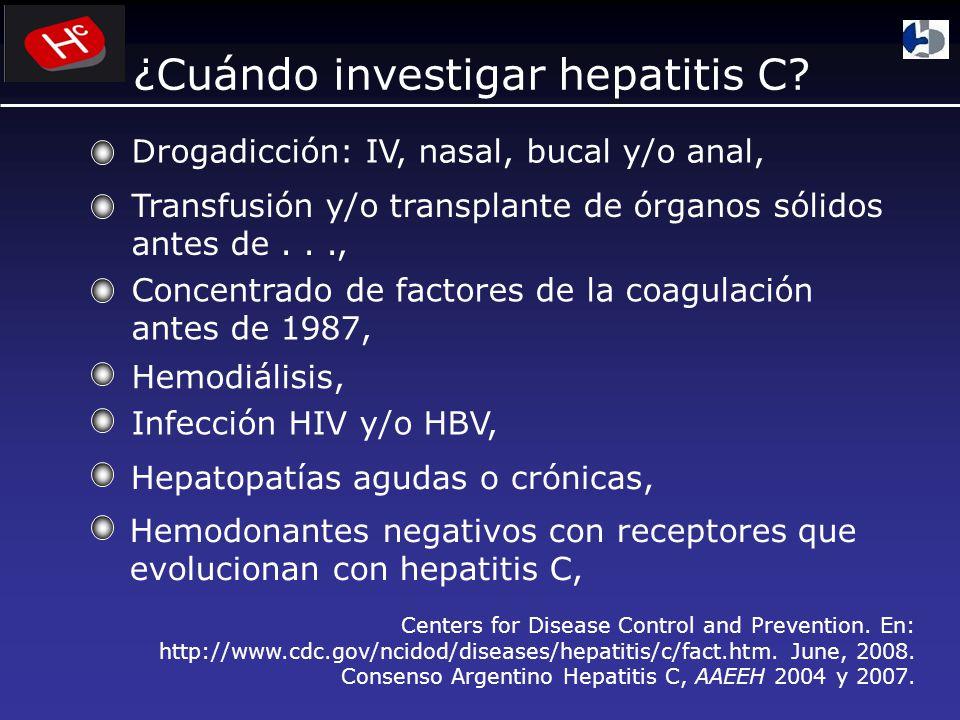 ¿Cuándo investigar hepatitis C