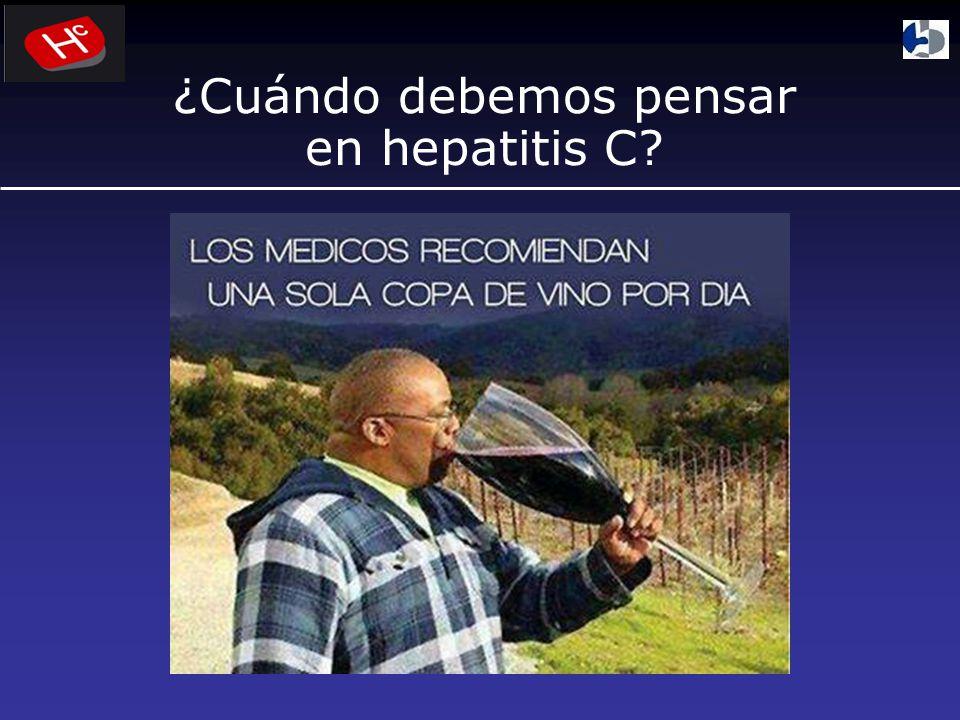 ¿Cuándo debemos pensar en hepatitis C