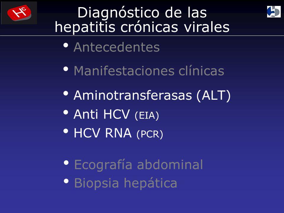 Diagnóstico de las hepatitis crónicas virales