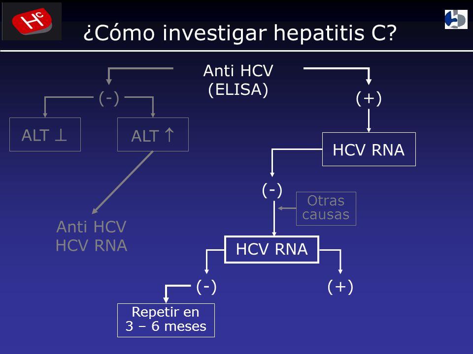 ¿Cómo investigar hepatitis C