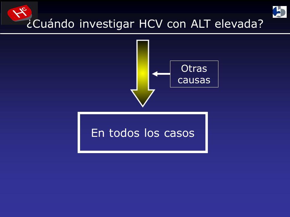 ¿Cuándo investigar HCV con ALT elevada