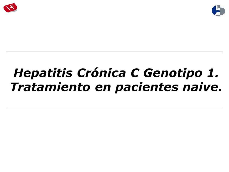 Hepatitis Crónica C Genotipo 1. Tratamiento en pacientes naive.