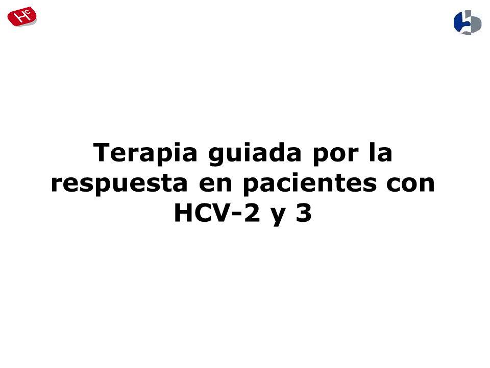Terapia guiada por la respuesta en pacientes con HCV-2 y 3