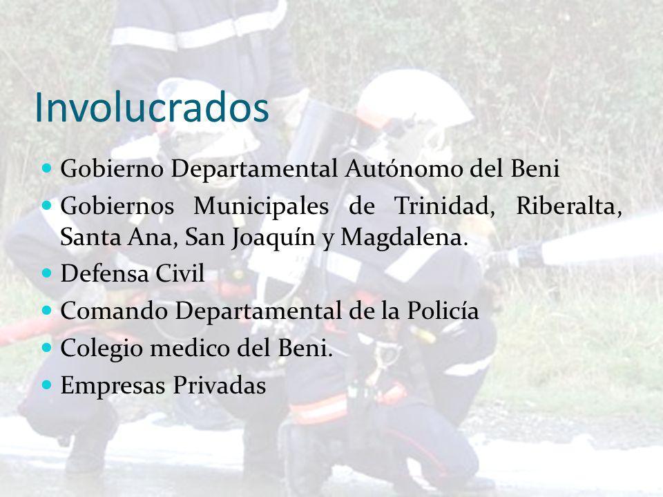 Involucrados Gobierno Departamental Autónomo del Beni