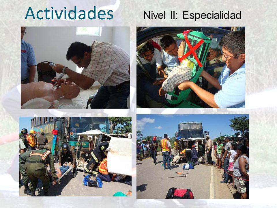 Actividades Nivel II: Especialidad