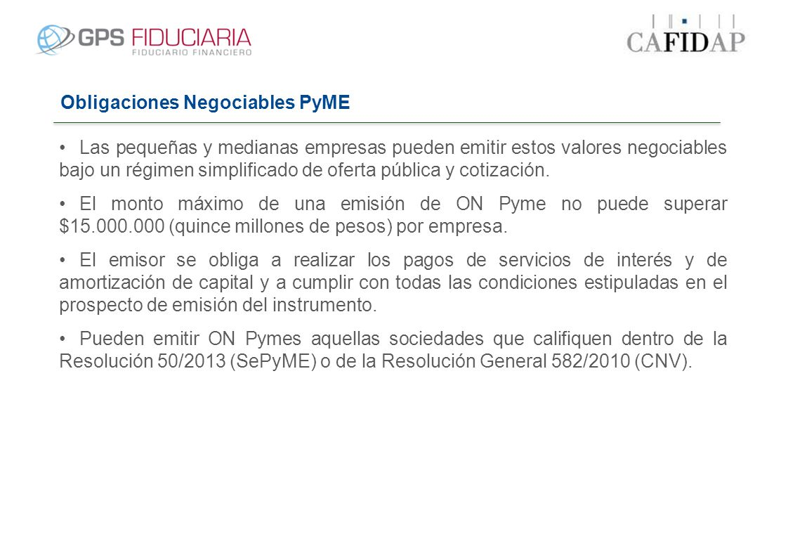 Obligaciones Negociables PyME