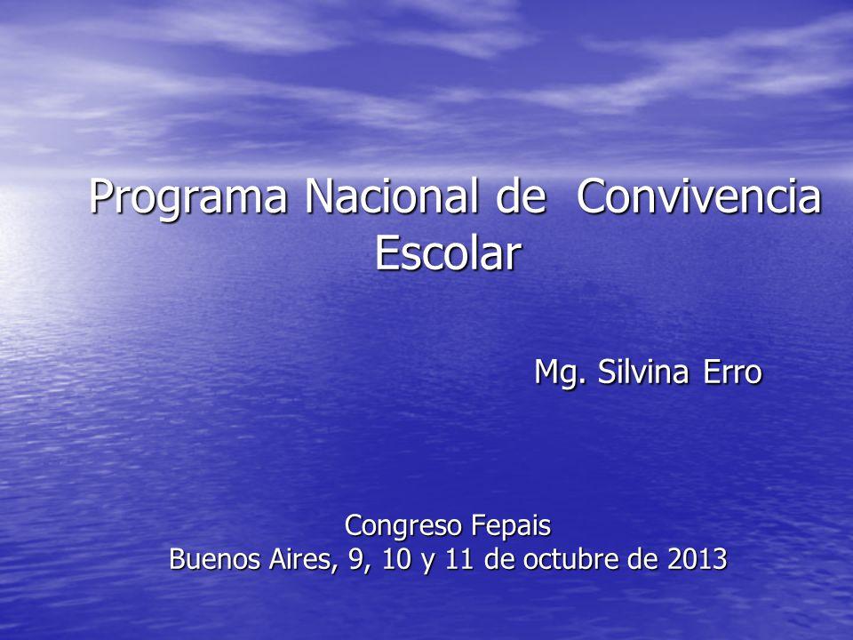 Programa Nacional de Convivencia Escolar Mg