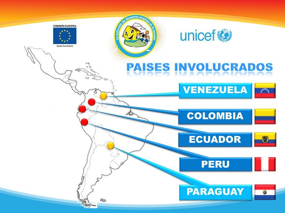 Paises involucrados VENEZUELA COLOMBIA ECUADOR PERU PARAGUAY