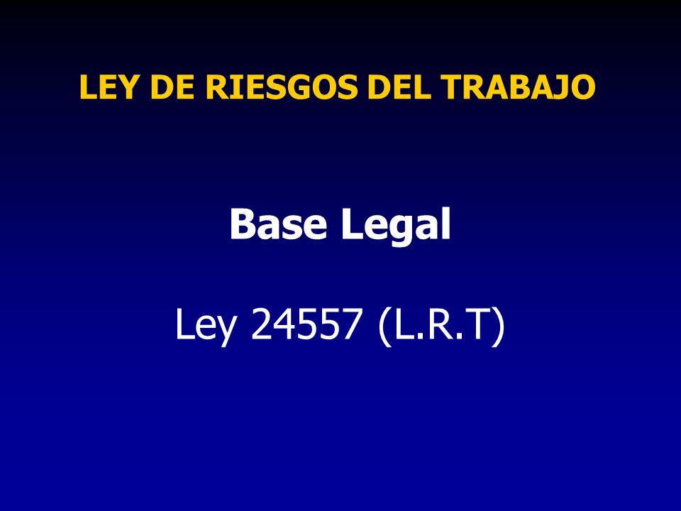 LEY DE RIESGOS DEL TRABAJO
