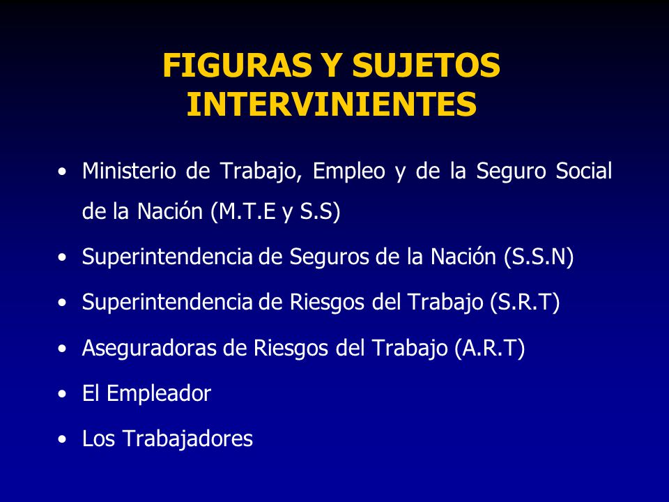 FIGURAS Y SUJETOS INTERVINIENTES