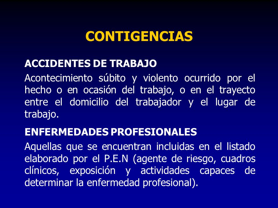 CONTIGENCIAS ACCIDENTES DE TRABAJO