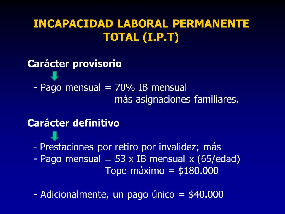 INCAPACIDAD LABORAL PERMANENTE TOTAL (I.P.T)