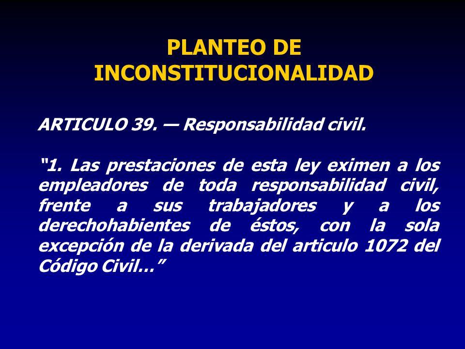 PLANTEO DE INCONSTITUCIONALIDAD