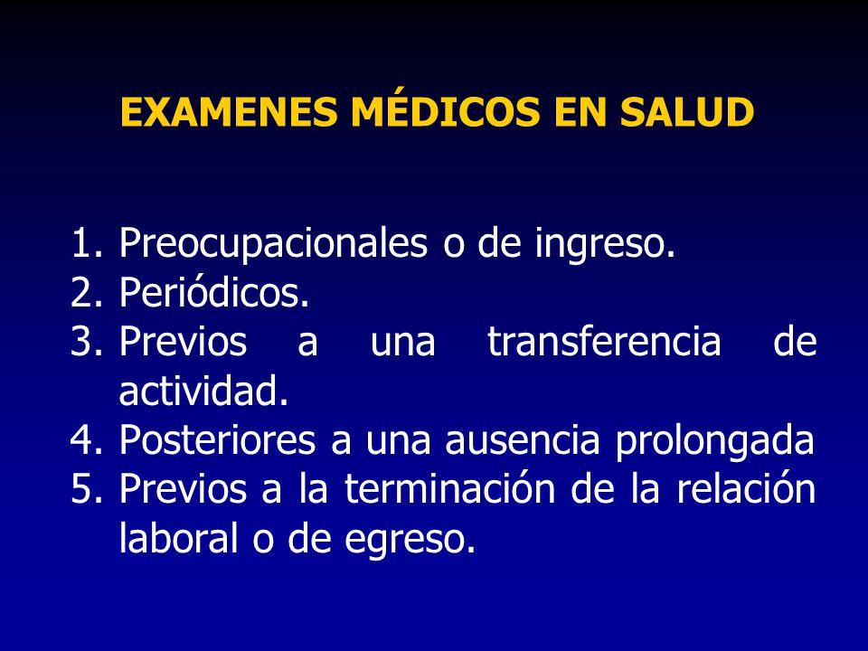 EXAMENES MÉDICOS EN SALUD