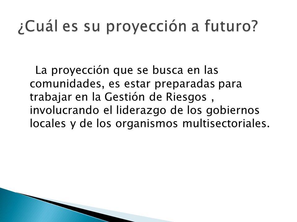 ¿Cuál es su proyección a futuro