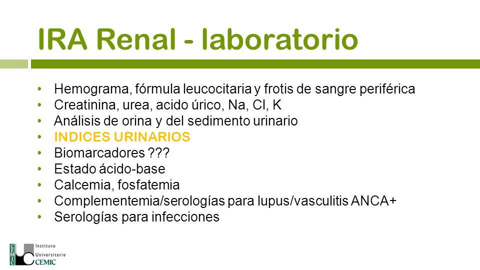 IRA Renal - laboratorio