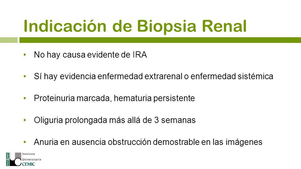 Indicación de Biopsia Renal