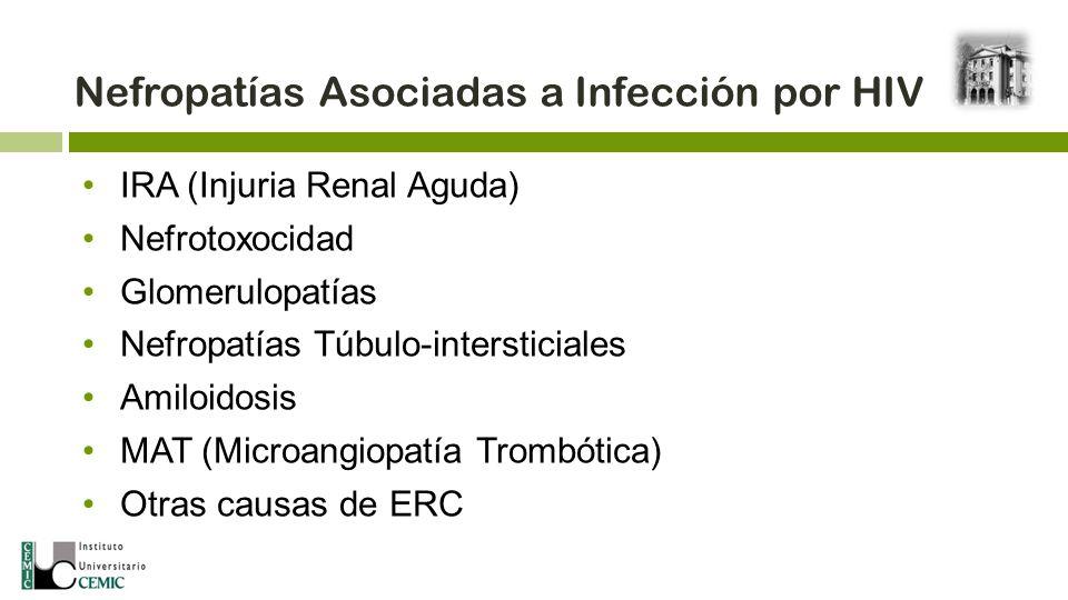 Nefropatías Asociadas a Infección por HIV