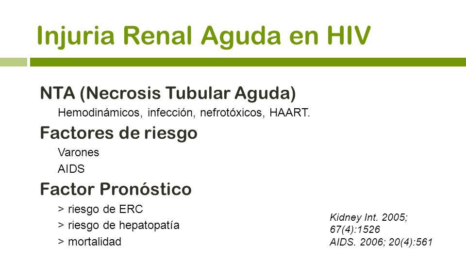 Injuria Renal Aguda en HIV