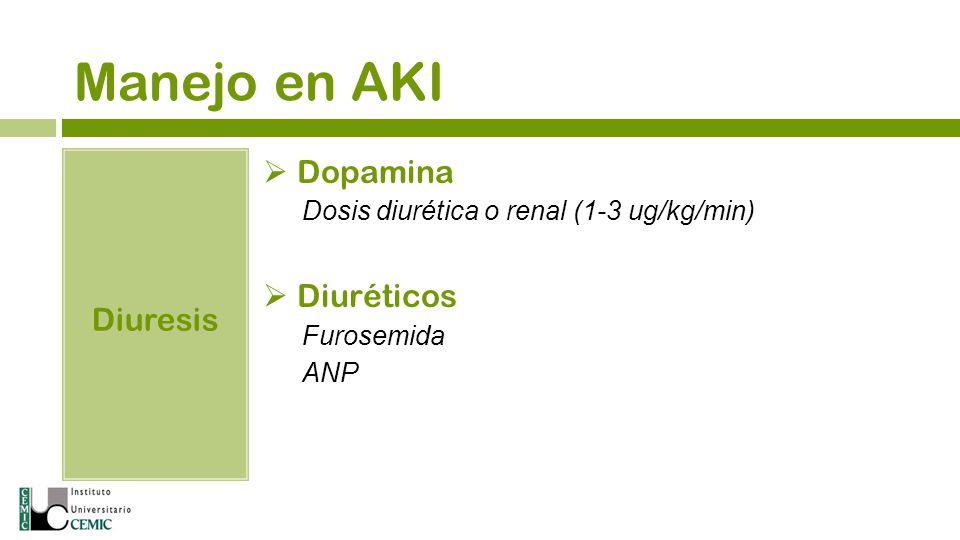 Manejo en AKI Dopamina Diuréticos Diuresis