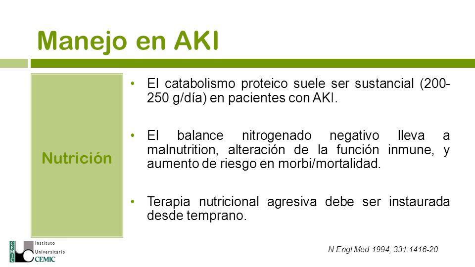 Manejo en AKI Nutrición
