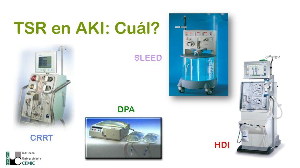 TSR en AKI: Cuál SLEED DPA CRRT HDI