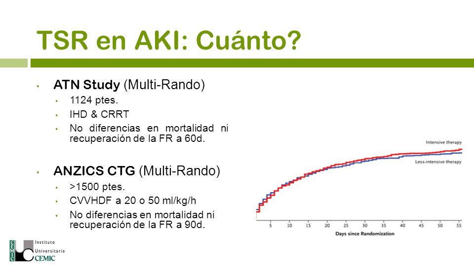 TSR en AKI: Cuánto ATN Study (Multi-Rando) ANZICS CTG (Multi-Rando) 5