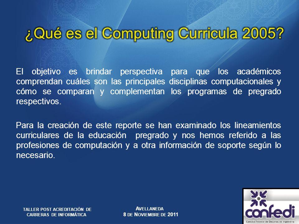¿Qué es el Computing Curricula 2005